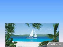 海洋海景风光PPT模板