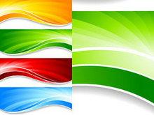 旗帜网站_五颜六色的旗帜banner背景矢量图2