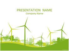 树林大风车生态能源PPT模板