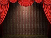 舞台帷幕背景PPT模板