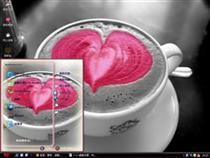 卡布奇诺咖啡的爱心