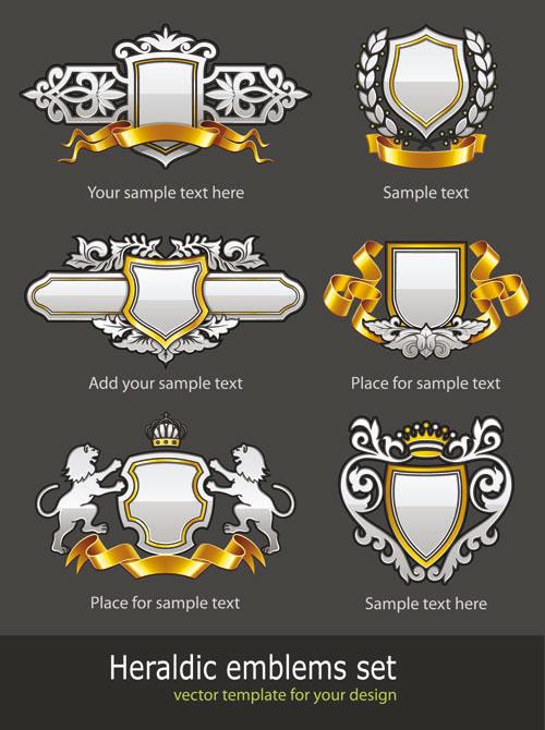 欧式,花纹,纹样,丝带,徽章,样式,王冠,皇冠,样式,矢量图,设计素材,eps