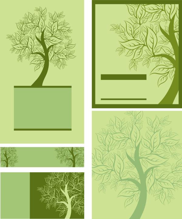 树,树叶,树枝,叶子,手绘,线稿,图形,模板,矢量图,设计素材,eps格式