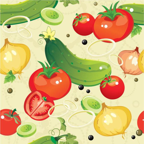 卡通,蔬菜,黄瓜,西红柿,洋葱,菜椒,矢量图,设计素材,eps格式