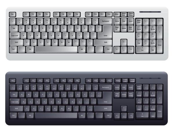 键盘模板矢量图4-其它矢量素材-矢量素材-素彩网
