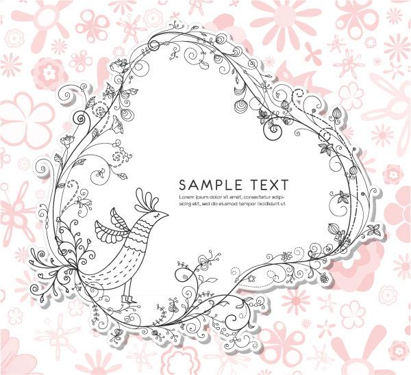 精美,花纹,边框,花边,手绘,线条,边角,底纹,纹理,矢量图,设计素材,eps