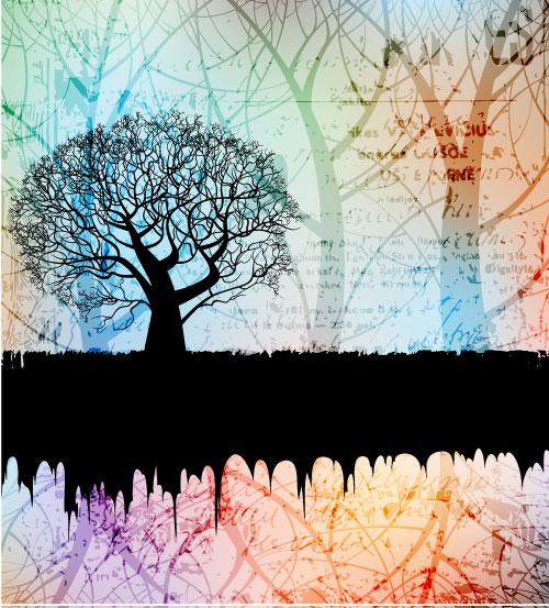 树,树影,背景,底纹,树枝,矢量图,设计素材,eps格式
