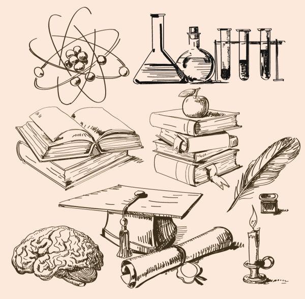 数学物理化学工具素材矢量图