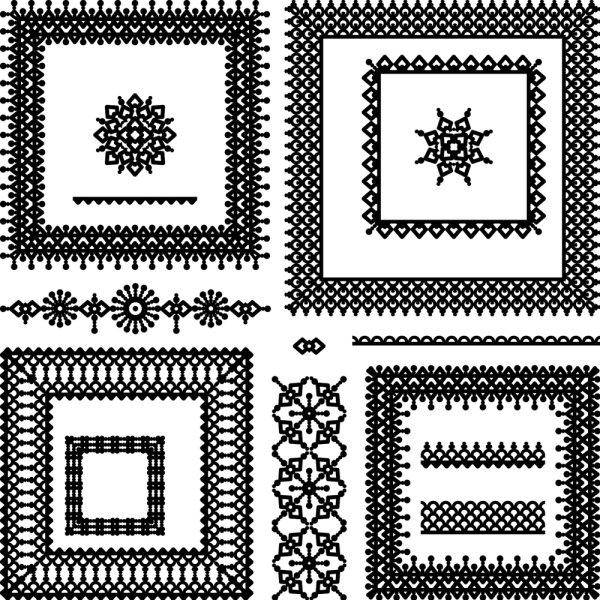 刺绣,花边,花纹,手工,十字绣,边角,线条,矢量图,设计素材,eps格式