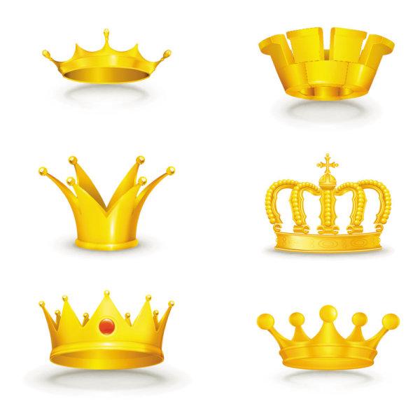 王冠,皇冠,皇帝,金色,贵族,头冠,矢量图,设计素材,eps格式