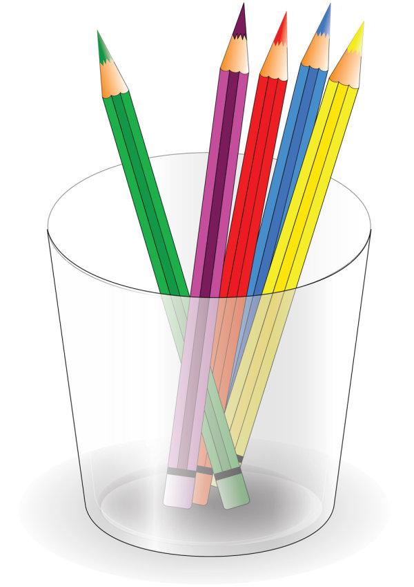 铅笔,笔筒,画笔,矢量图,设计素材,eps格式