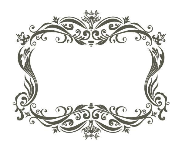 欧式花纹图样矢量图3