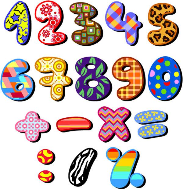 设计,多样,符号,数字,多彩,绚丽,可爱,卡通,字母,矢量图,设计素材,eps