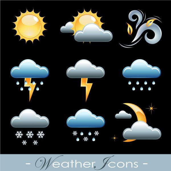 精致天气图标矢量图2
