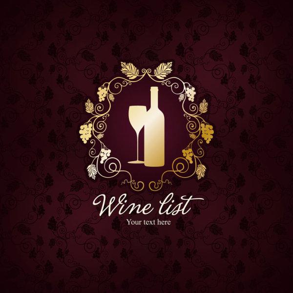 花纹,底纹,纹样,背景,葡萄酒,纹理,高脚杯,剪影,矢量图,设计素材,eps