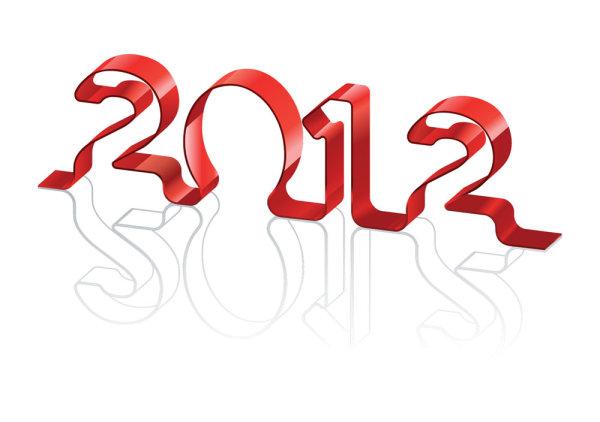 2012,字体,设计,数字,创意,艺术字,矢量图,设计素材,eps格式