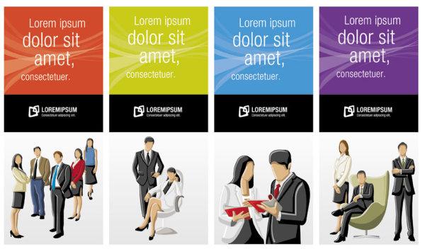 商业,ppt背景,背景,人群,白领,矢量图,设计素材,eps格式