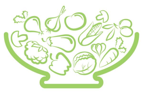 线稿,线描,蔬菜,茄子,大蒜,玉米,胡萝卜,菜花,蘑菇,矢量图,设计素材图片