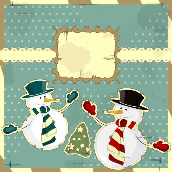 小雪人,卡通,可爱,插画,装饰画,卡片,冬季,纽扣,矢量图,设计素材,eps