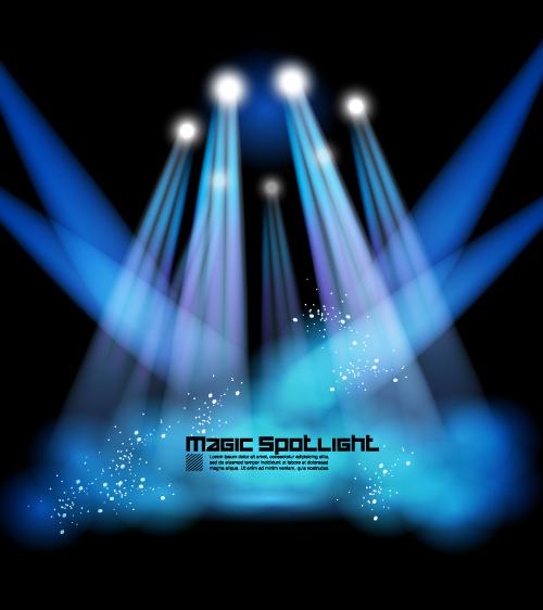舞台,灯光,特效,射灯,星光,矢量图,设计素材,eps格式