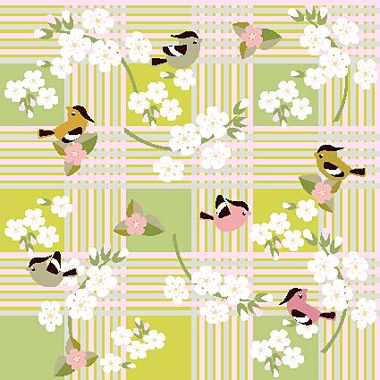 卡通,花纹,花朵,图案,小鸟,线稿,矢量图,设计素材,eps格式