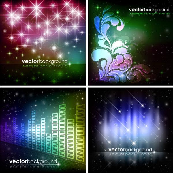 绚丽,星光,流星,星光,璀璨,炫彩,背景,圣诞,花纹,矢量图,设计素材,eps