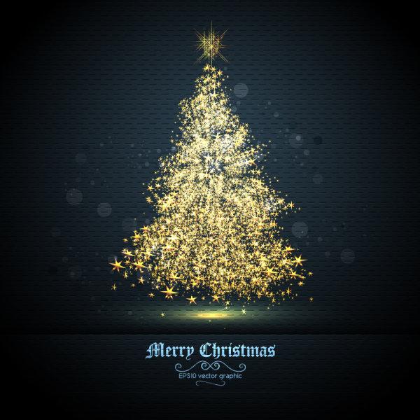 绚丽,圣诞节,背景,光斑,矢量图,星星,圣诞树,设计素材,eps格式