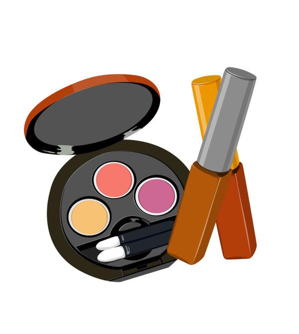 化妆品,腮红,唇膏,矢量图,设计素材,eps格式