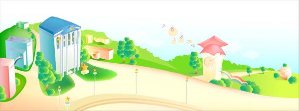 可爱,插画,卡通画,儿童画,矢量图,风景,建筑,设计素材,eps格式
