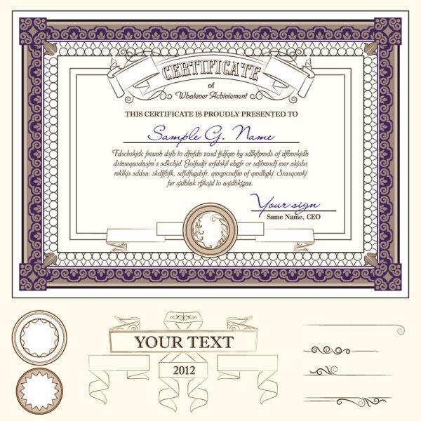 欧式,毕业证,证书,花纹,花边,边框,边角,花纹,矢量图,设计素材,eps
