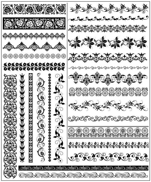 花纹,花边,边框,边角,纹样,二方连续,矢量图,设计素材,eps格式