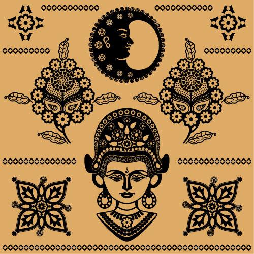 埃及纹样,图腾,纹样,花纹,佛像,图案,花边,矢量图,设计素材,eps格式