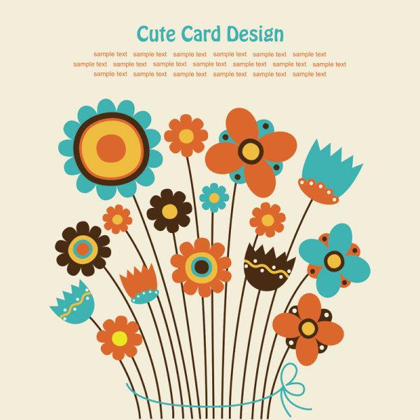 儿童画,卡通,花朵,背景,矢量图,设计素材,eps格式
