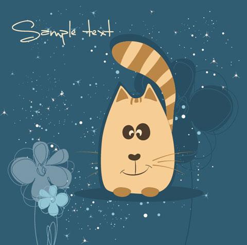 卡通,插画,背景,猫咪,线稿,矢量图,设计素材,eps格式