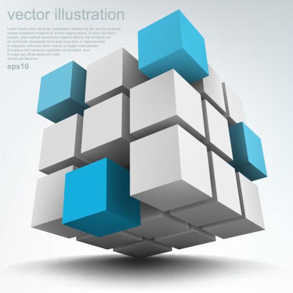 时尚,潮流,立体,3d,科技,背景,方块,立方体,雕塑,矢量图,设计素材,eps