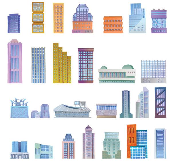 房屋,楼房,高楼,建筑,大厦,都市,城市建筑,商业,图案,矢量图,设计素材