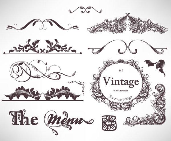 经典,花纹,花边,边框,纹样,图案,线条,标贴,标签,花样,刺青,矢量图,设