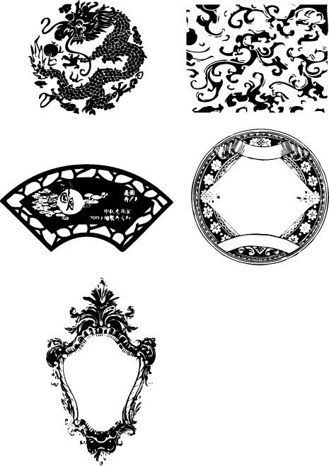 复古,花纹,底纹,欧式复古边框,设计素材,eps格式