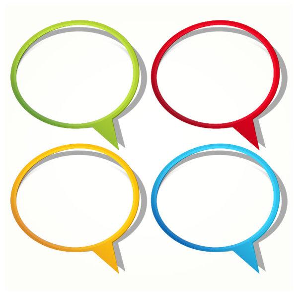 彩色,纸质,对话框,贴纸,纸条,边框,矢量图,设计素材,eps格式