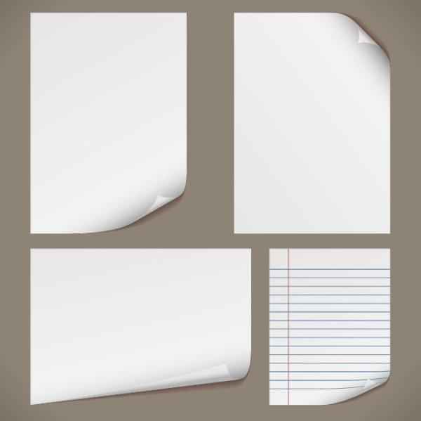 空白,纸张,白纸,卷边,卷角,卷纸,背景,横格纸,线条,矢量图,设计素材,e