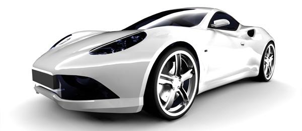 银白色的跑车图片素材-交通图片-高清图片-素彩网