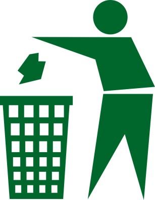 宣传单垃圾桶图标,设计素材,cdr格式