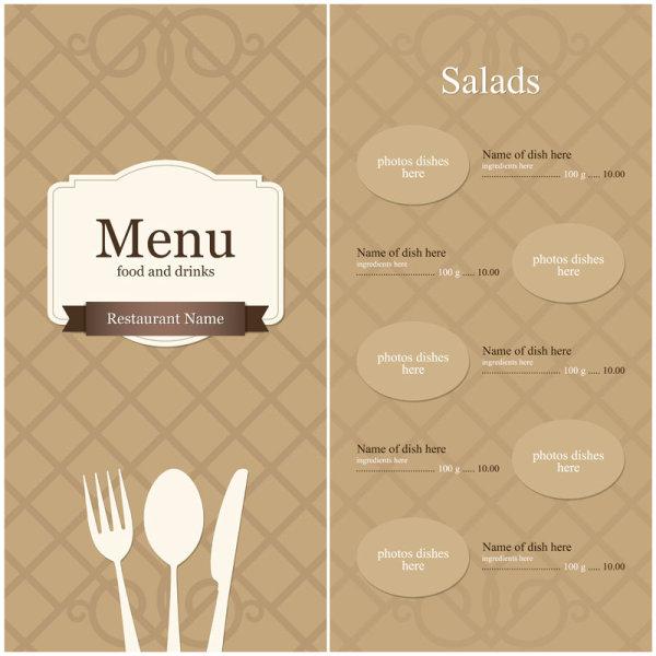 欧式菜单模板1矢量图