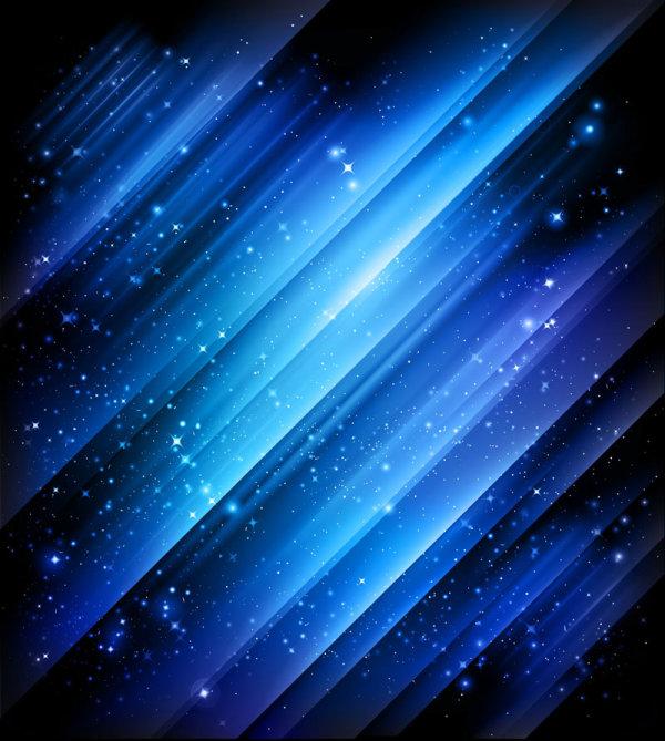 华丽星光背景矢量图