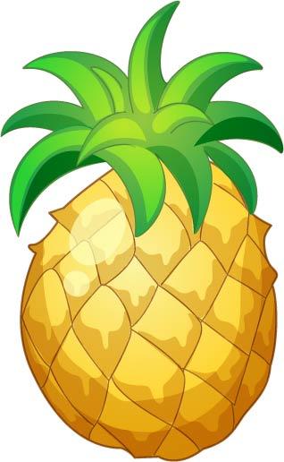菠萝-矢量人物与卡通-矢量素材-素彩网