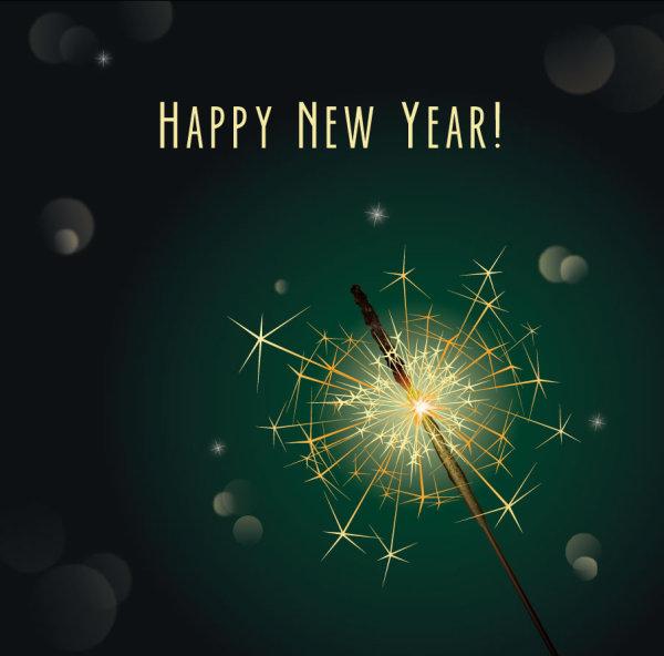 精美,新年贺卡,贺卡,背景,光晕,蒲公英,矢量图,设计素材,eps格式