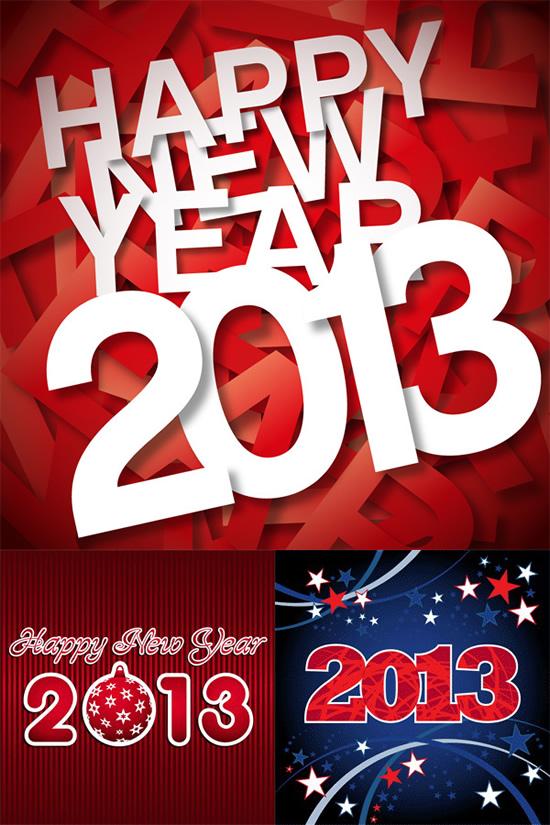 2013新年,创意背景,艺术字体,贴纸,五角星,新年快乐矢量图,新年ai