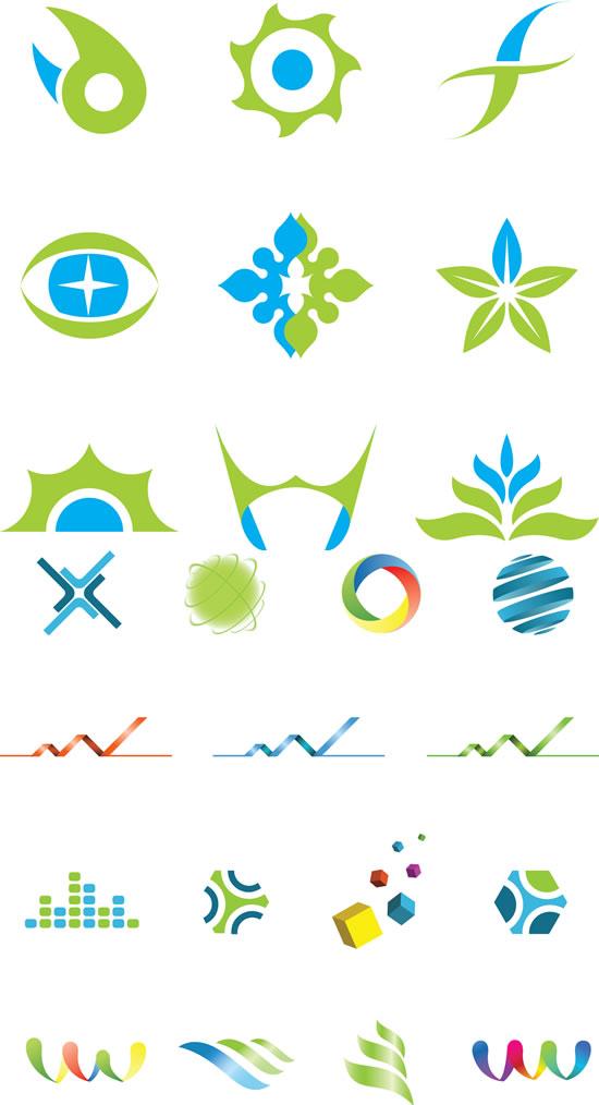 创意图案,logo标志,立体方块,花纹,丝带,时尚图标矢量图,图标ai矢量
