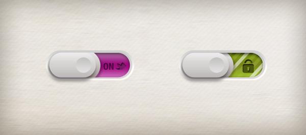 解锁控制按钮psd素材免费下载,解锁按钮,开关按钮,网页控件