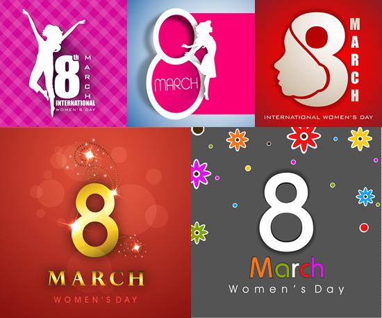 三八妇女节海报背景矢量图-矢量节日素材-矢量素材-素